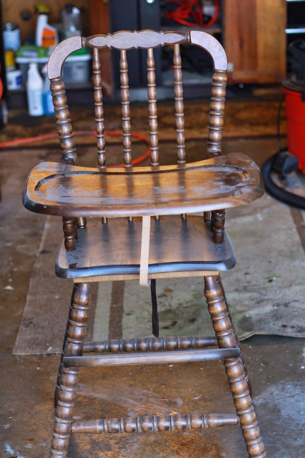 black high chair wood