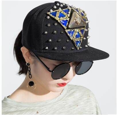Personalized Studded Snapback Cap For Girls Uv Protection Baseball Cap With Rhinestone Cap Girl Baseball Cap Cap