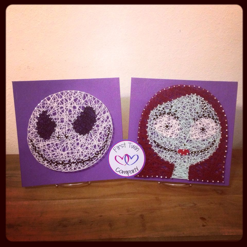 Nightmare Before Christmas, Sally and Jack Skellington string art ...