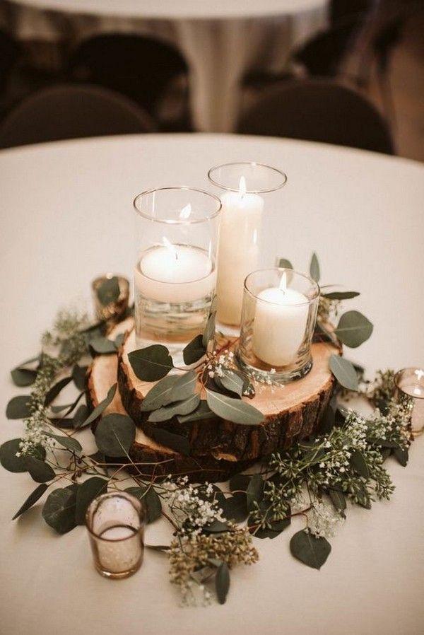 20 ideas sencillas y económicas de centro de mesa para bodas con velas – # presupuesto #Cand …