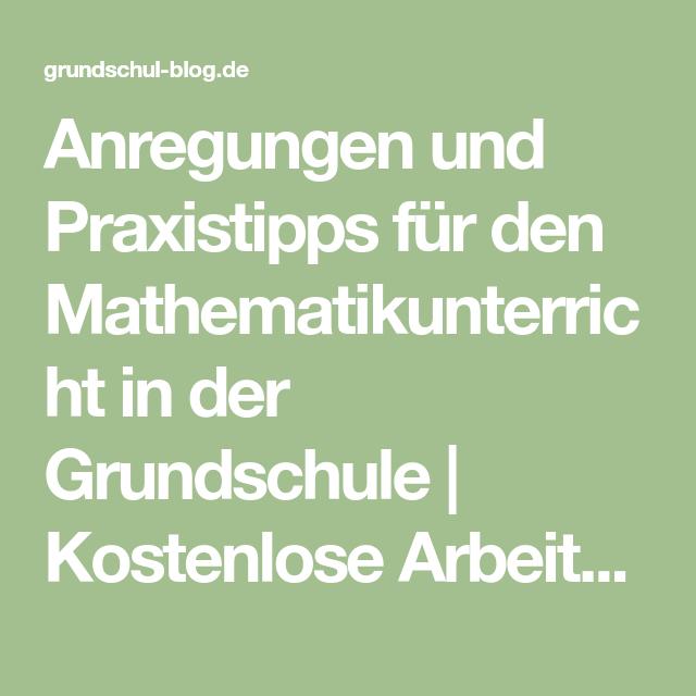Anregungen Und Praxistipps Für Den Mathematikunterricht In
