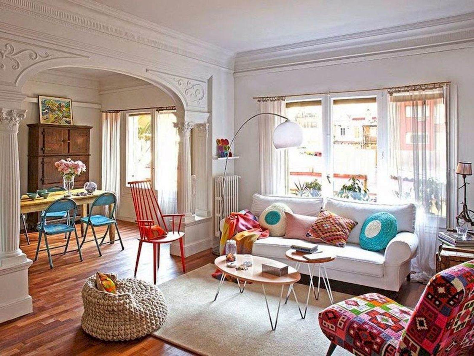 90 Modern Bohemian And Mid Century Living Room Design ...