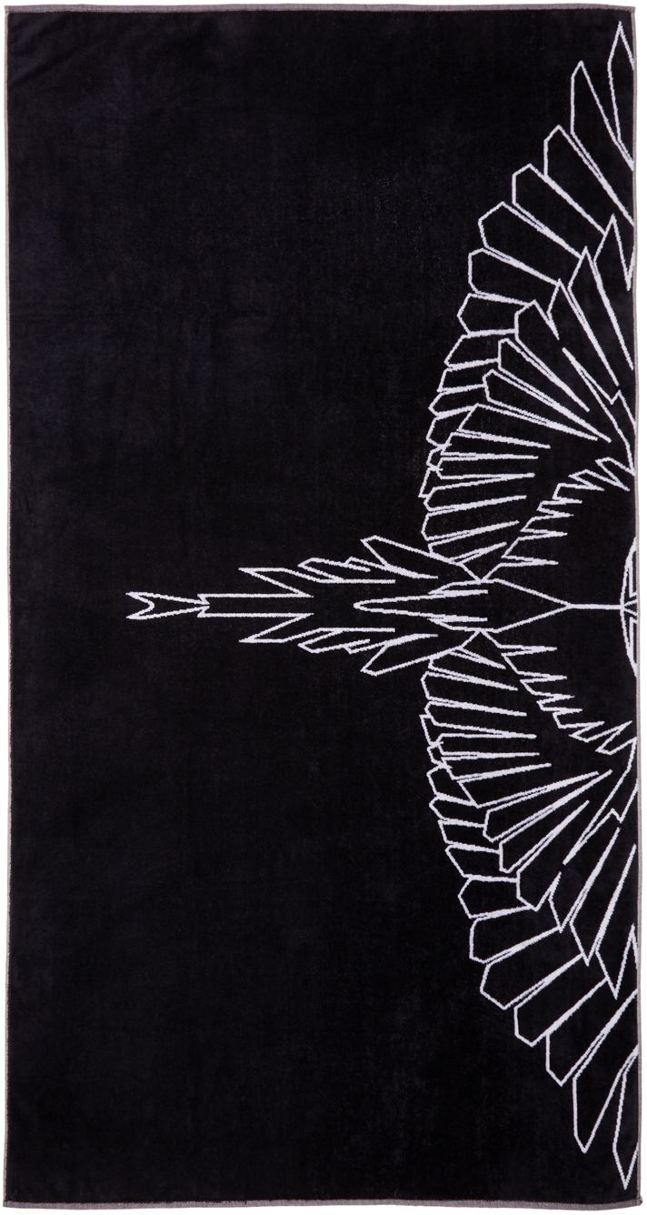 Marcelo Burlon County Of Milan Black Maipu Towel Ssense 02 T