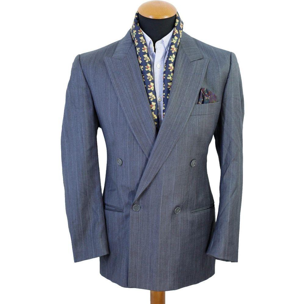 Hugo Boss Blazer size 40R Double Breasted Cashmere Wool Sport Jacket