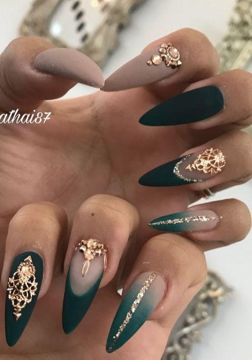Emerald Nails Emerald Nails Green Nail Designs Green Nails