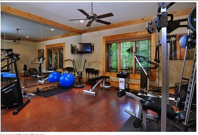 Cork Floor Exercise Room Home Gym Decor Dream House Rooms Workout Rooms