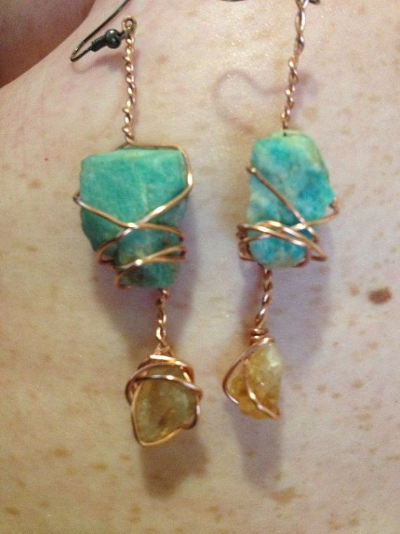 Handmade Wire Wrapped Mineral Stone Rock by RockinRockLady on Etsy, $15.00