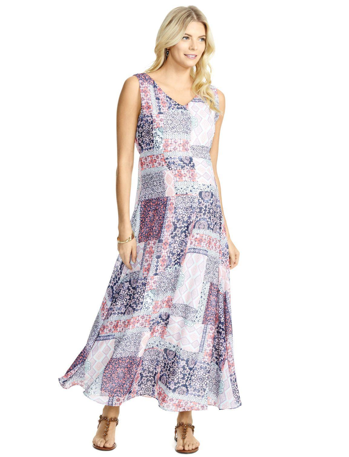 7e852c64b188 Motherhood Maternity Jessica Simpson Long Sleeve Empire Waist Maternity  Maxi Dress