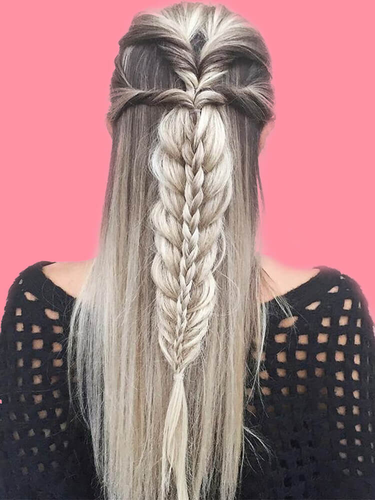 Attractive Dutch Braid Hairstyles Designs to try for ladies - ShowmyBeauty