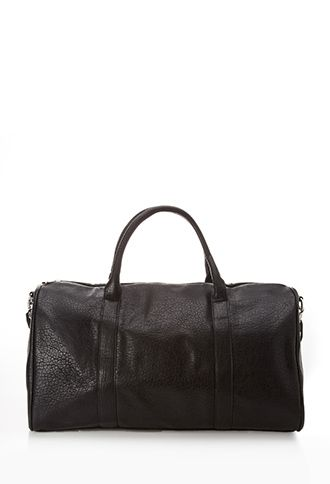 5a4558531ee0 Faux Leather Duffle Bag