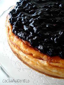 Cocinándotelo: TARTA DE QUESO CON MASCARPONE Y MERMELADA DE ARÁNDANOS