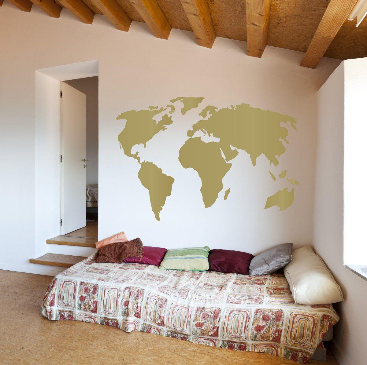 Amazonsmile world map vinyl wall art sticker earth home decor