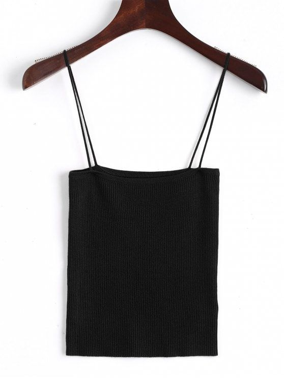 baf80203062 Shop for Knitting Cami Ribbed Tank Top BLACK: Tank Tops S at ZAFUL. Only  $17.99 and free shipping!