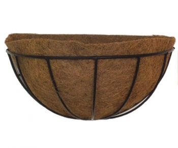 16 Half Round Hayrack Wall Basket W Liner Home Decorating For