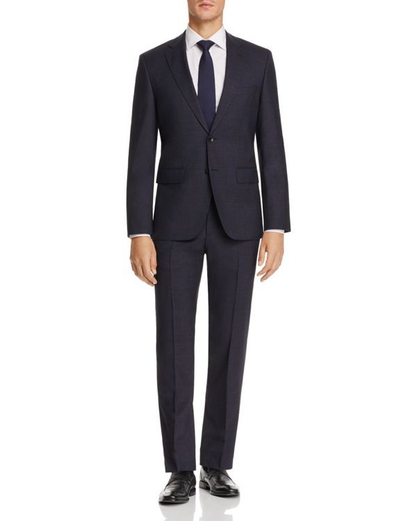 Boss Windowpane Regular Fit Suit - 100% Exclusive