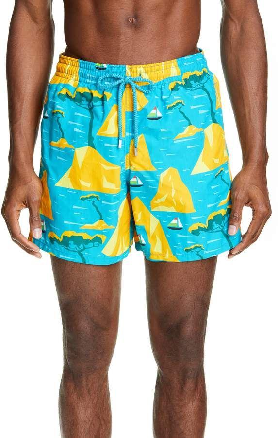 2ea8c5f80c Men's Vilebrequin Capri Swim Trunks, Size Small - Blue/green in 2019 ...