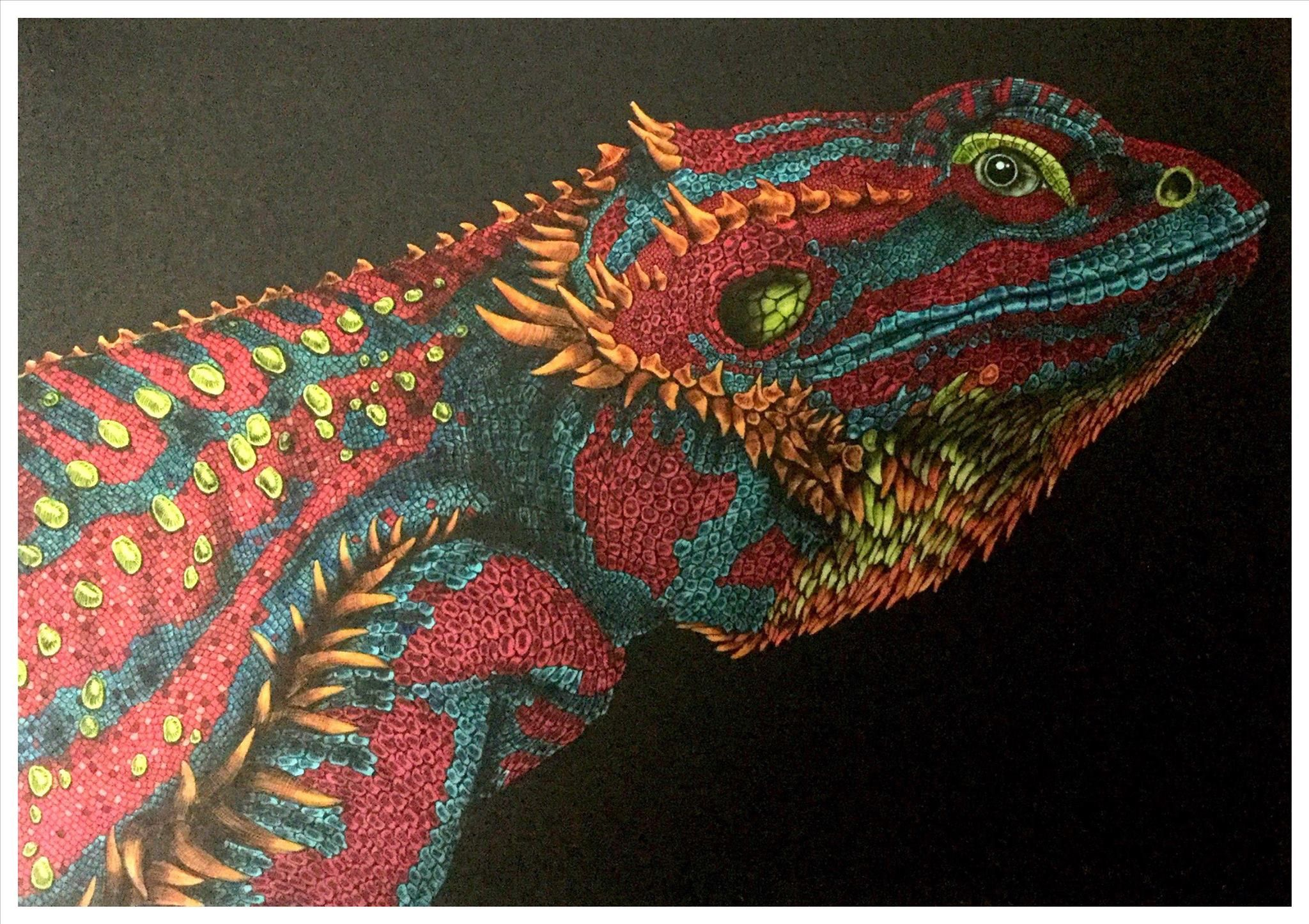 Bearded Dragon by Benji Jager | Intricate Ink: Animals In Detail ...
