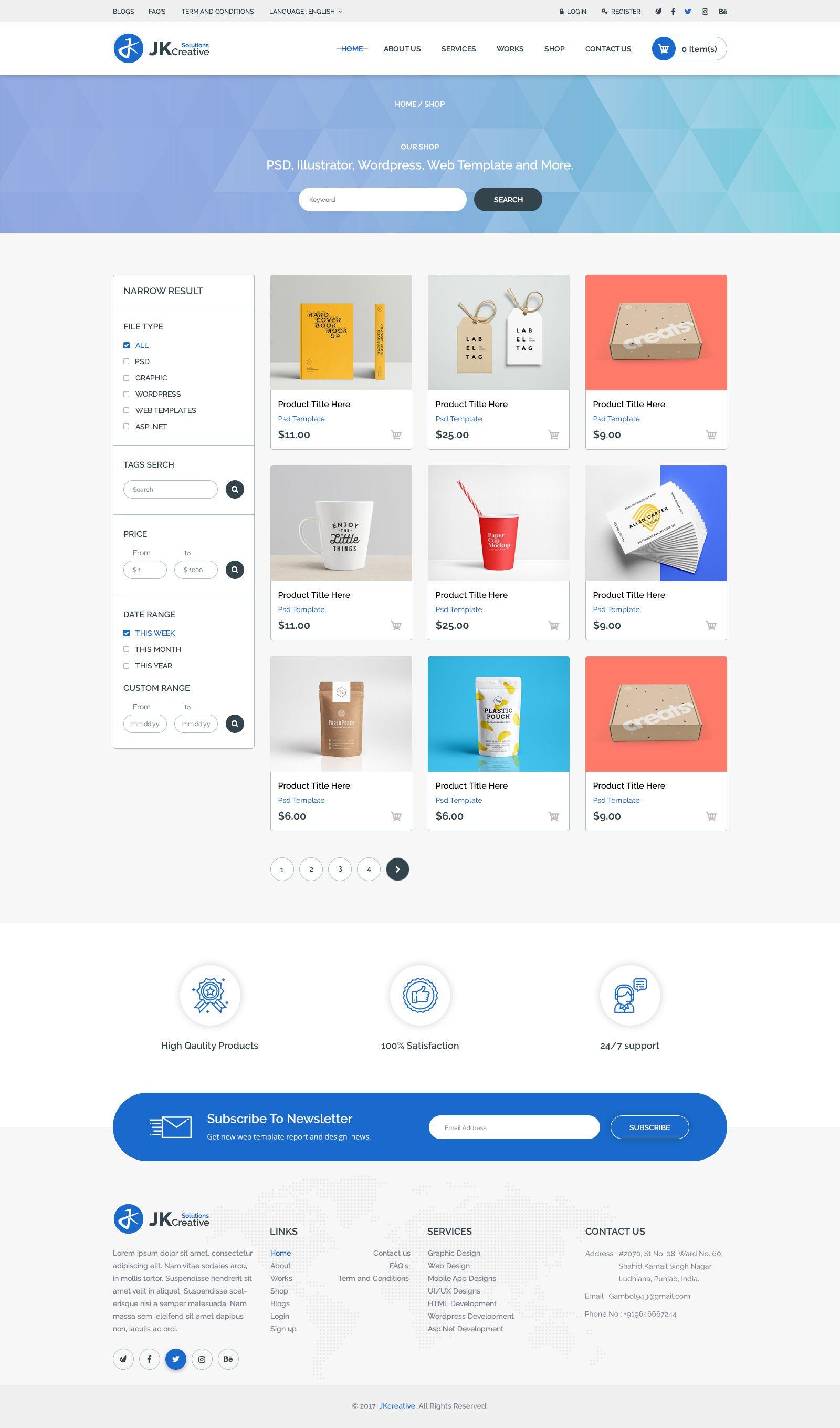Portfolio Jk Creative Solutions Psd Template