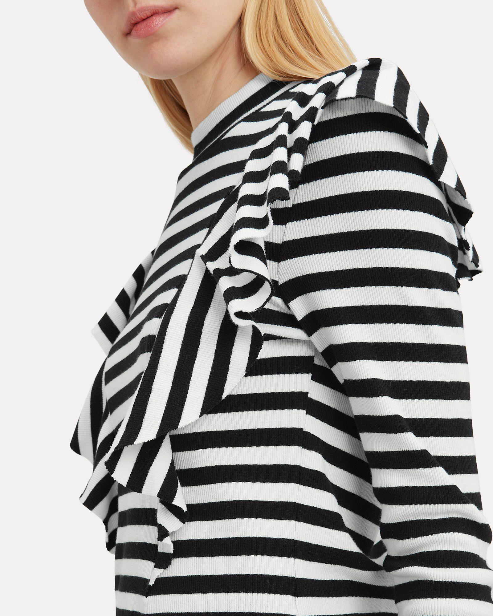Dawson Striped Ruffle Knit Top 36c7b14c4