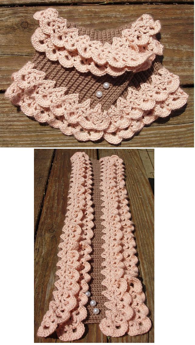 Patron Crochet Cuello de Ondas - Patrones Crochet | Art of crochet ...