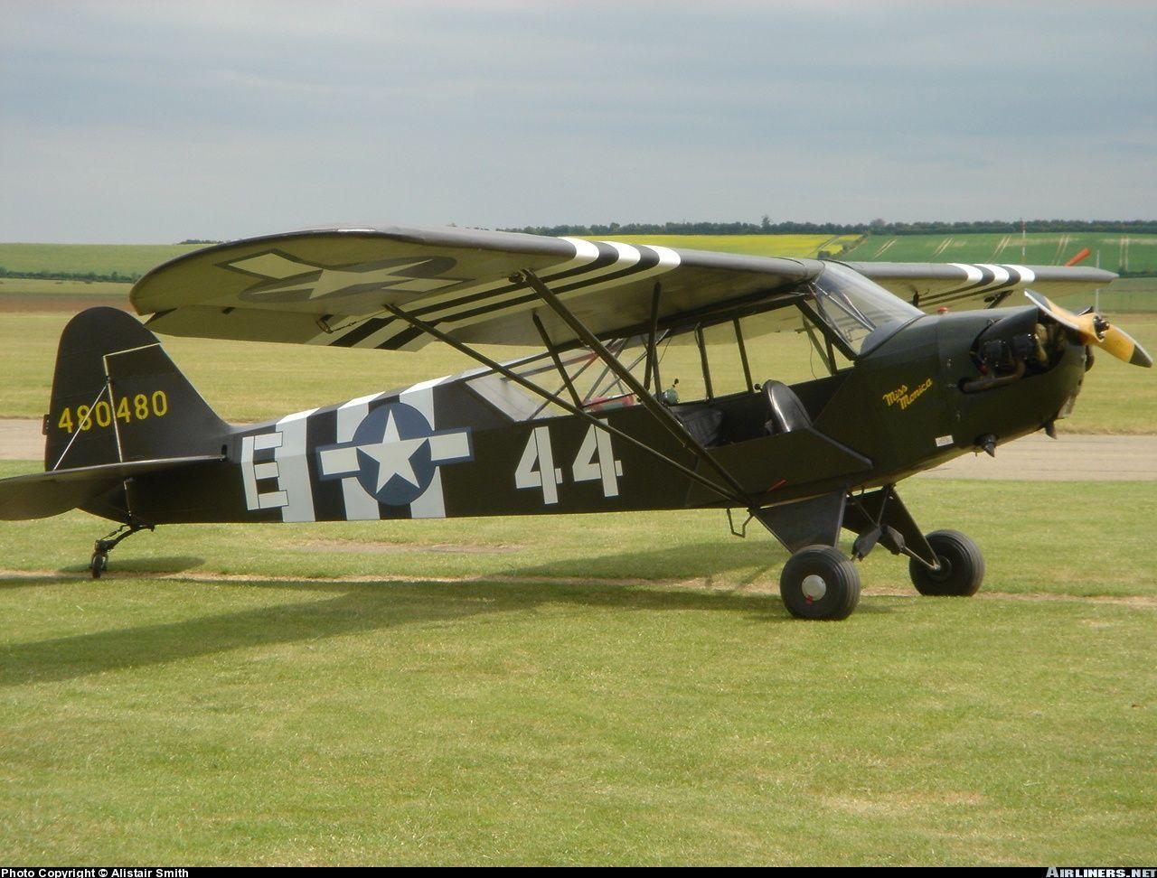 Piper L-4J Grasshopper  Ooh I love vintage planes  | flight