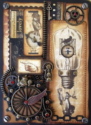 """Notebook cover """"Steampunk fantasy"""""""