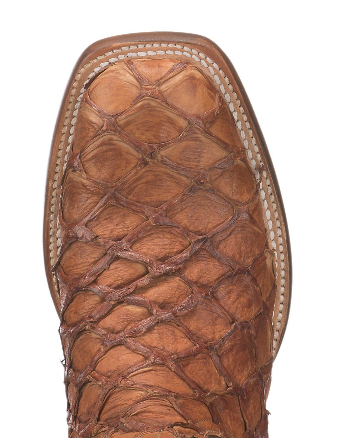 Lucchese 1883 Men S Cognac Pirarucu With Chocolate