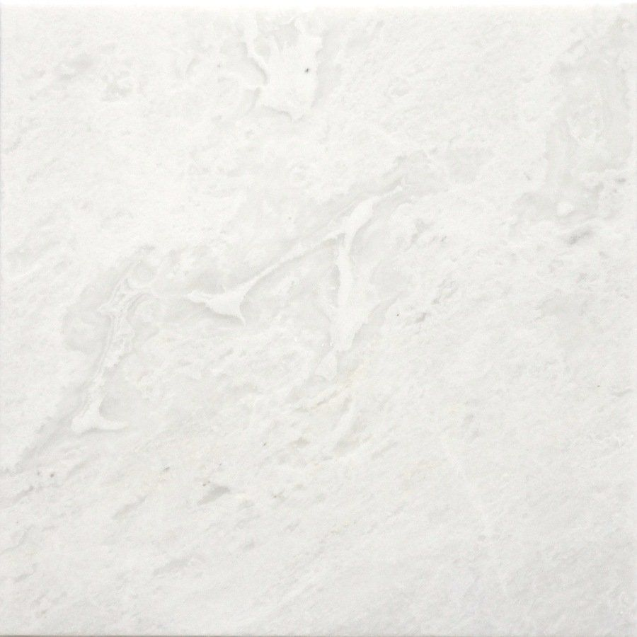 Faber 12 In X 12 In Marble Polished White Natural Stone