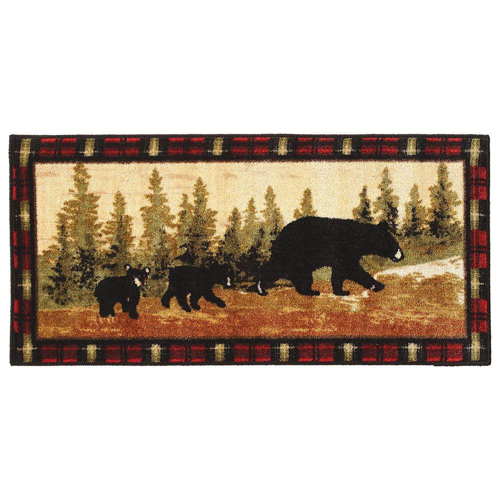 Bear Rugs Family Of Bears Bath Rug Black Forest Decor