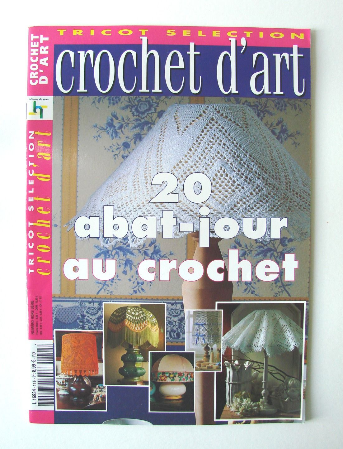 revue magazine tricot s lection crochet d 39 art 20 abat jour au crochet les editions de saxe. Black Bedroom Furniture Sets. Home Design Ideas