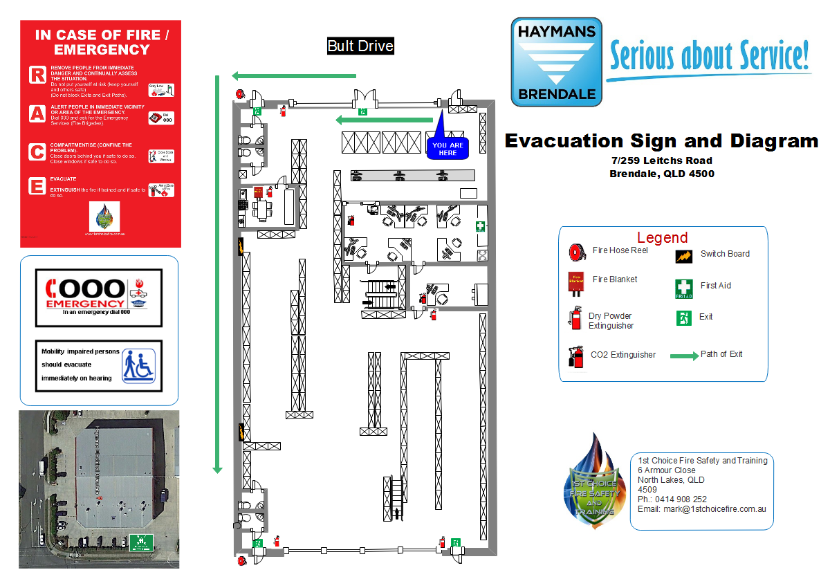 Evacuation Signs and Diagrams. Custom made for your facility on ...