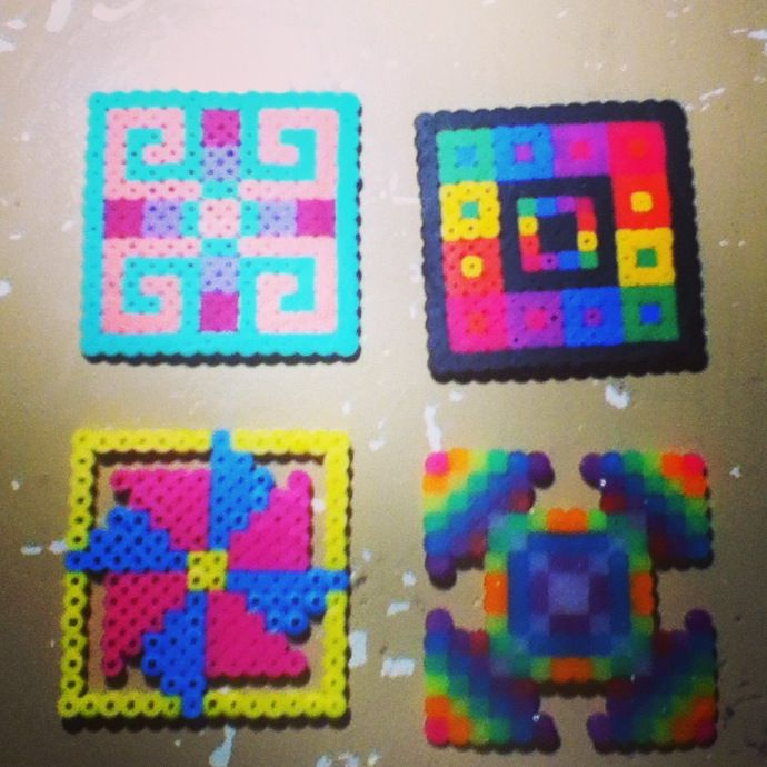 Random Perler Beads Square Patterns By Tiara Cunningham Perler