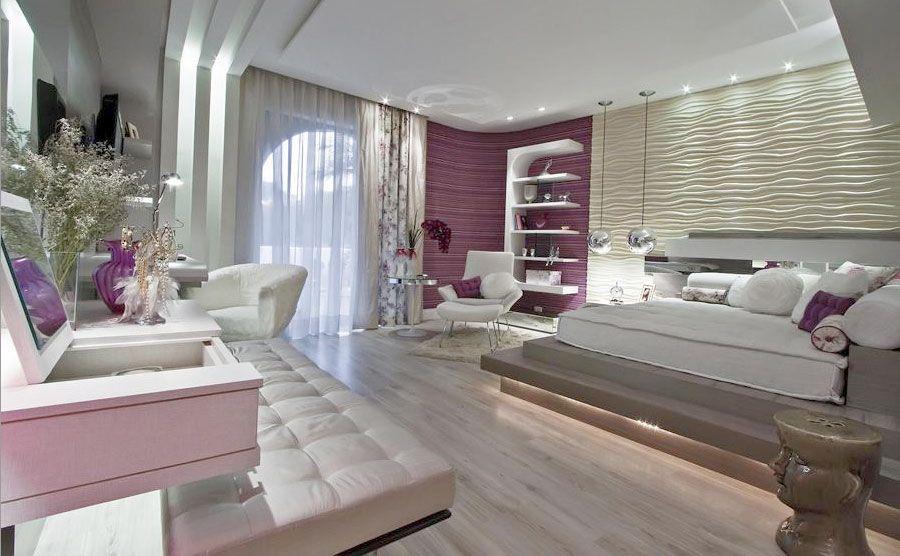 Dormitorios juveniles modernos para mujeres purpura - Habitaciones juveniles modernas ...