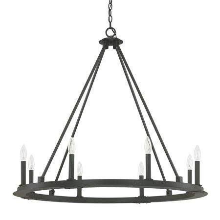 Minimalist iron ring chandelier 8 light iron ring minimalist minimalist iron ring chandelier 8 light aloadofball Images
