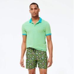 Herren Ready to Wear - Solid Changing Polohemd aus Baumwollpikee für Herren - Polohemd - Palatin - B #festivalclothing
