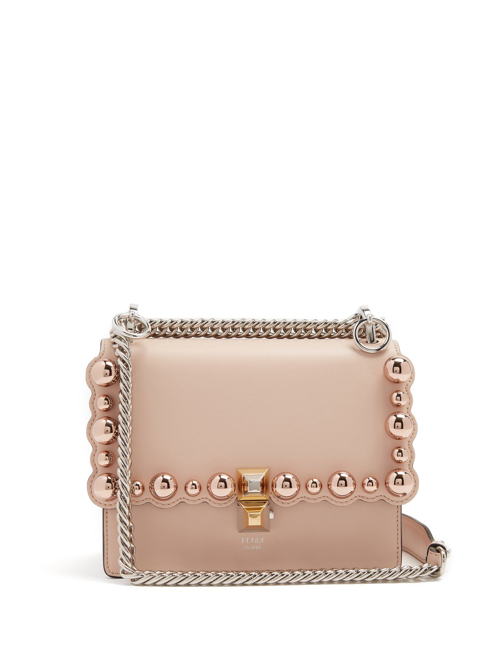 d4772783cce9 Kan I small embellished leather cross-body bag
