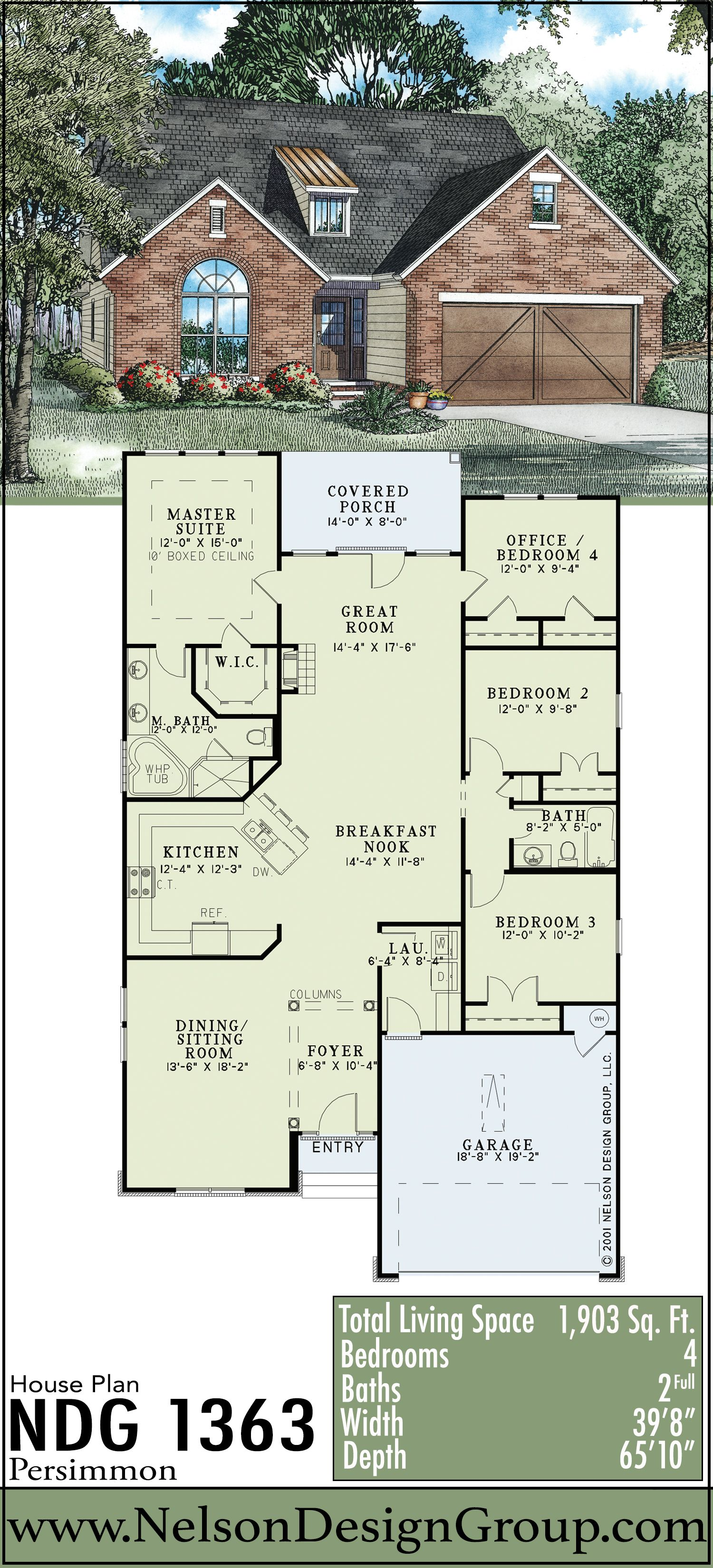 This Unique Arts And Craft Style Home Features 1 903 Sq Ft Of Total Living Space And Has 4 Bedrooms An Traditional House Plans Custom Home Plans House Plans