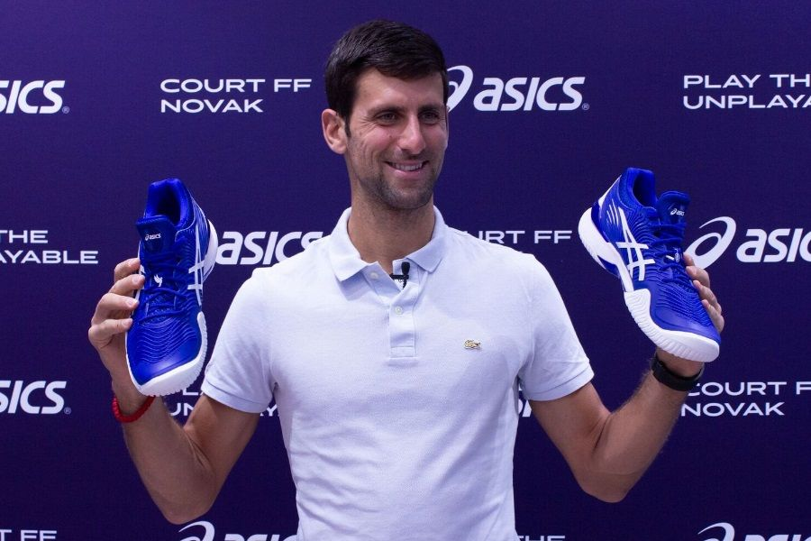 Novak Djokovic Unveils Signature Asics Tennis Shoe In Melbourne Man Of Many Asics Tennis Shoes Novak Djokovic Asics