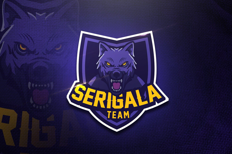 Serigala Team Mascot & Esport Logo by AQR Studio on