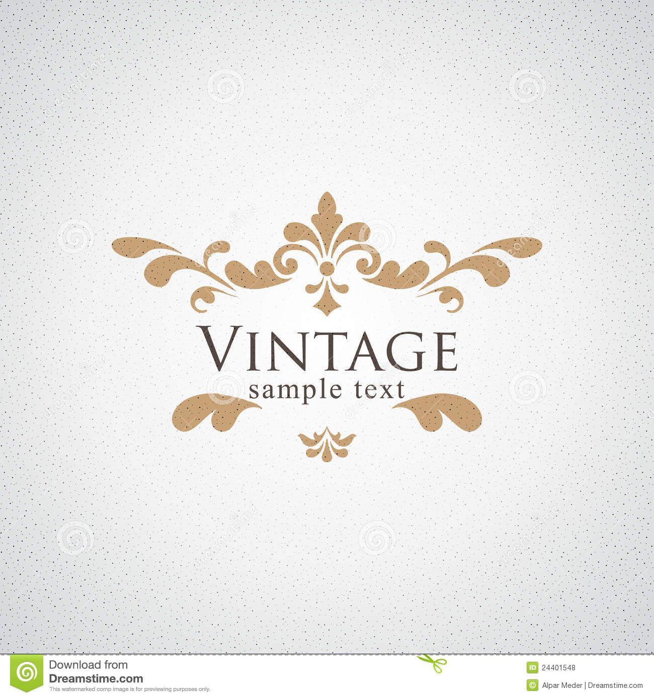 Vectores Florales Vintage - Buscar Con Google