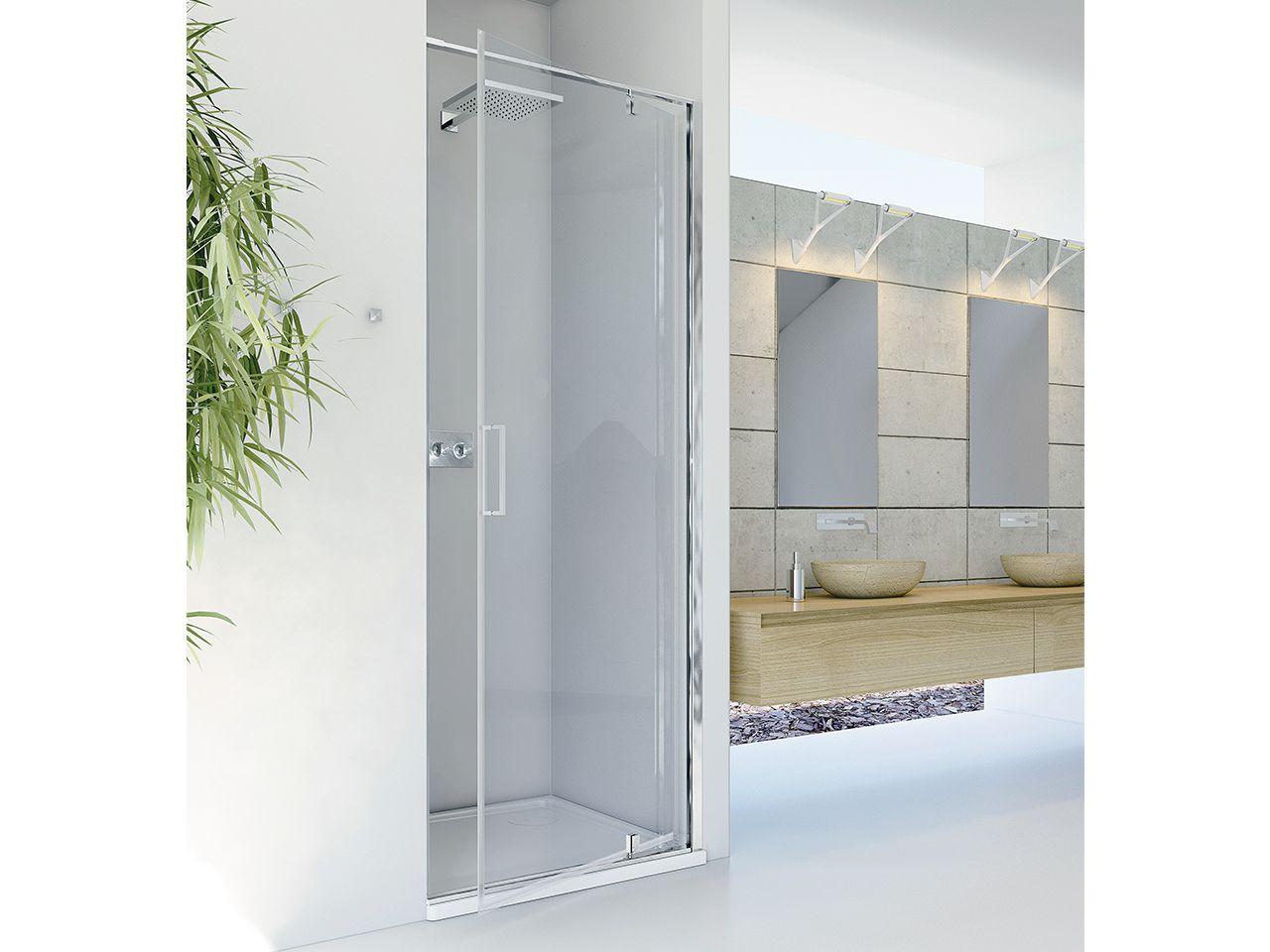 Dado porta doccia nicchia 70 h200 anta girevole dx