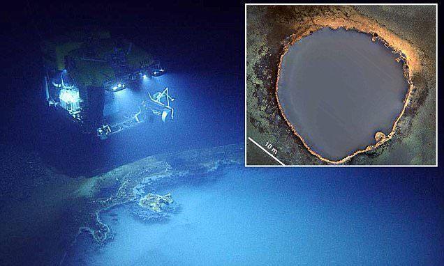 The Jacuzzi Of Despair Massive Brine Pool In The Gulf Of Mexico Dangerous Roads Coast Pool