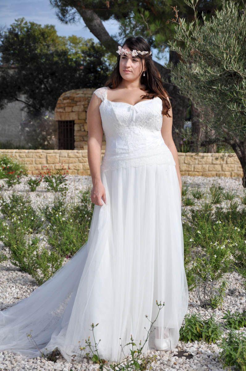 Robe de mariée bohème grande taille | Robe