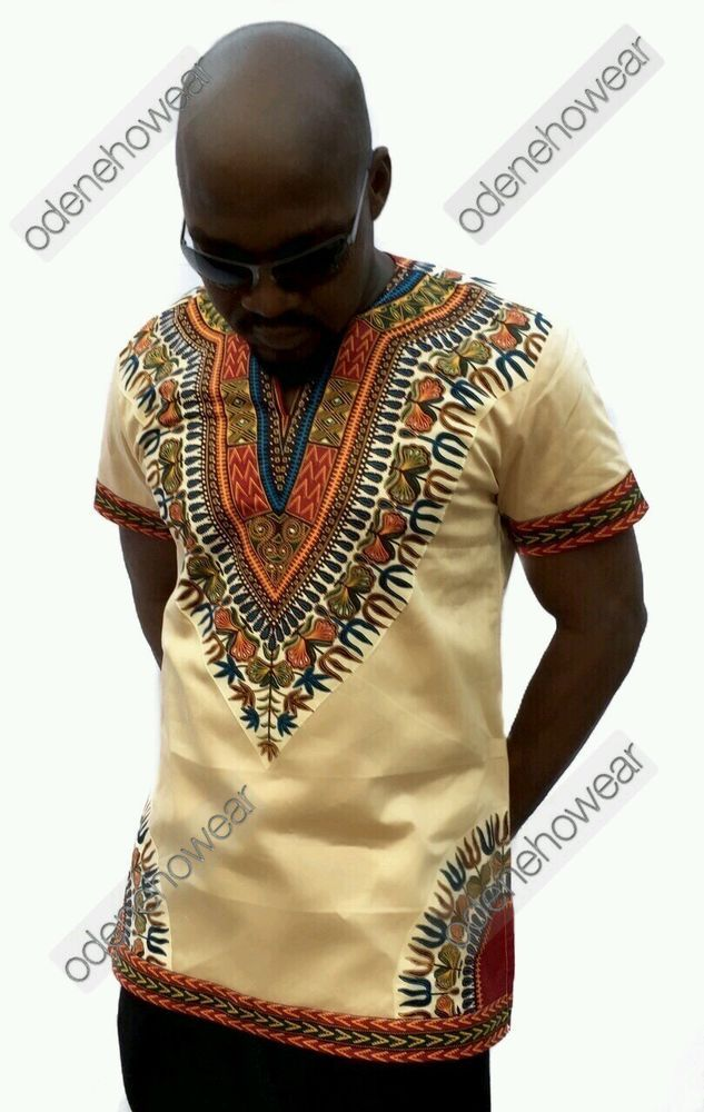 Odeneho Wear Men's Polished Cotton Top/ Dashiki Design ...