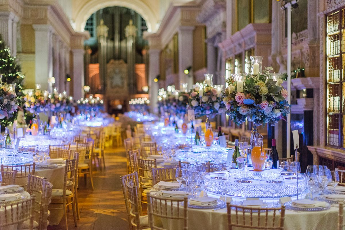 Dinner Reception In The Long Library Stunning Winter Wedding At