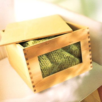 cedar-lined sweater boxes with window