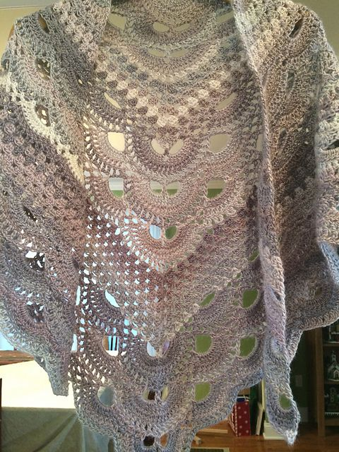 Ravelry: maryvee12's Virus Meets Granny Shawl | Crocheted ...