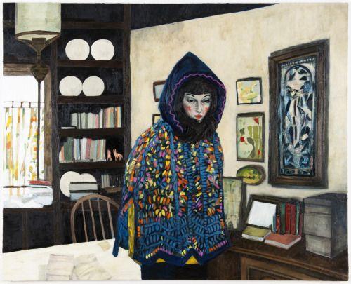 "thunderstruck9: "" Raffi Kalenderian (American, b. 1981), Liz (Blue Hood), 2012. Oil on canvas, 213.5 x 264 cm. """