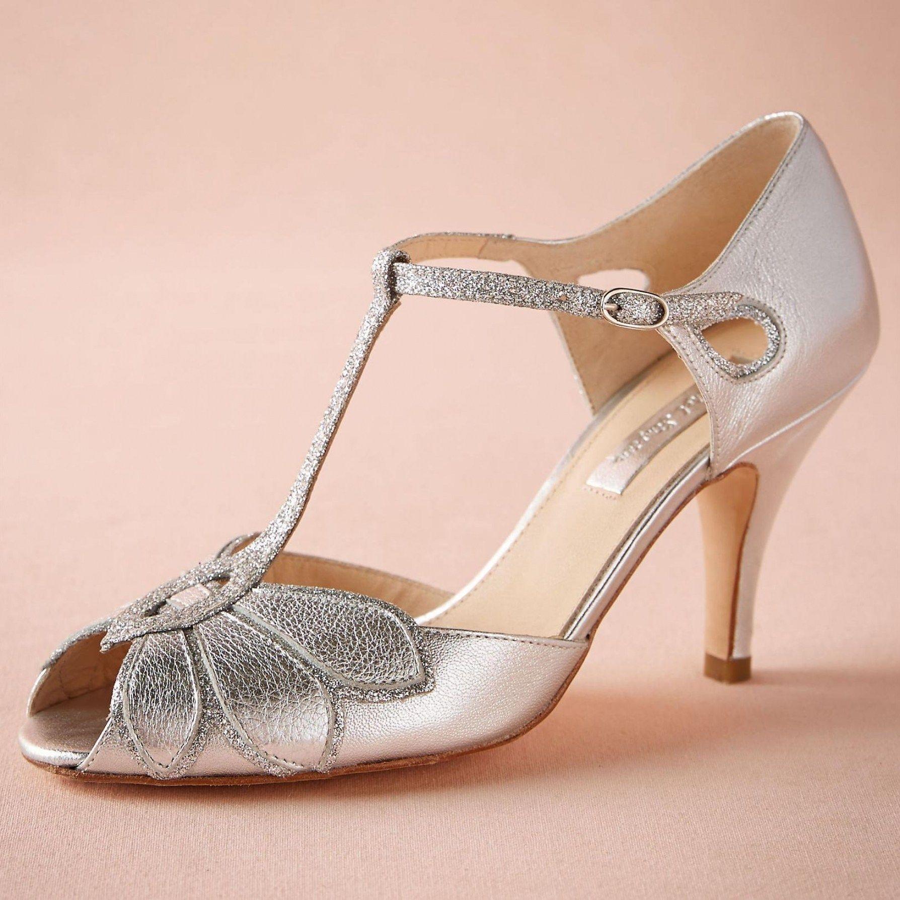 30 Beautiful Silver Kitten Heel Shoes Wedding | Silver wedding ...
