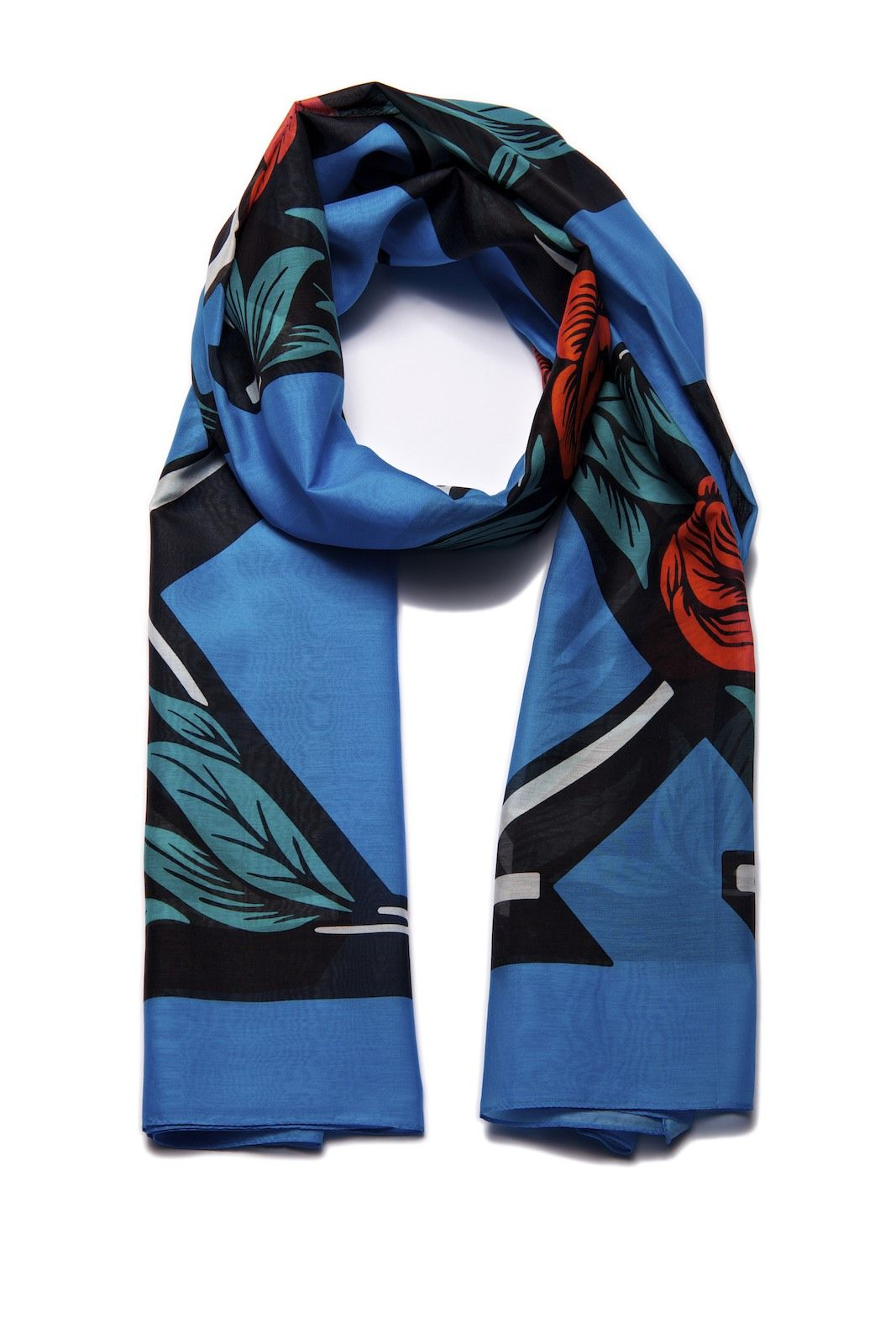 With hugs and kisses - colorful scarf printed on a fine cotton-silk blend. #MomPreneursAdventsbasar